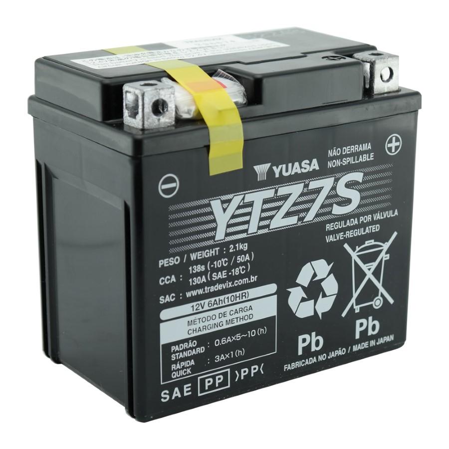 Bateria Yuasa YTZ7-S CBR1000RR 2008/14 / ZX10R 2011 / PCX 150 / CRF 150F/230F  / ZX10R 2011