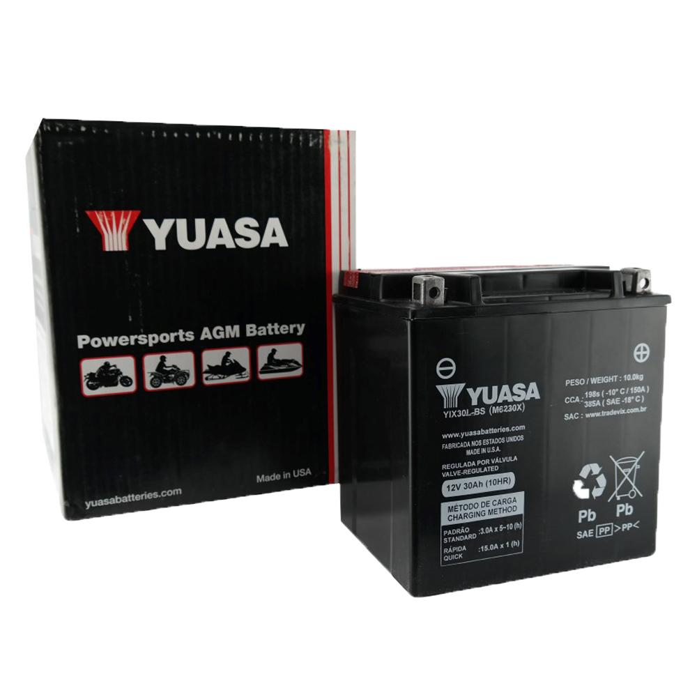Bateria Yuasa YIX30L-BS Harley Davidson 1450/1580 CC