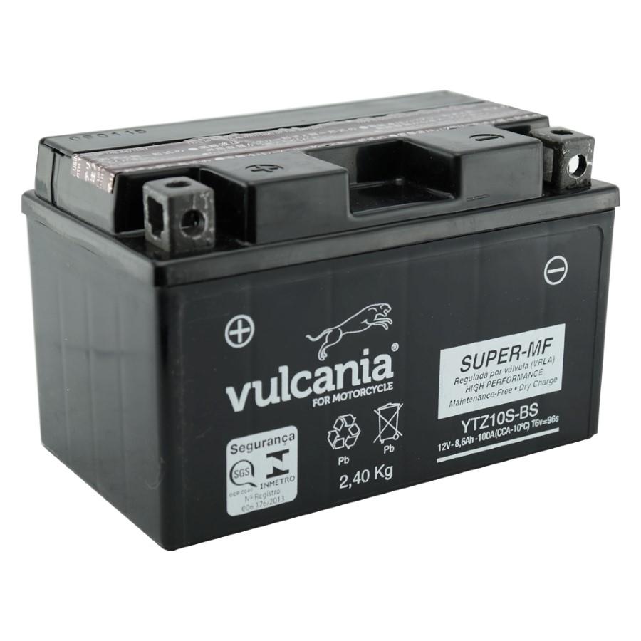 Bateria Vulcania YTZ10S-BS CBR600RR 01/06 / HORNET08/2011 / CBR900RR