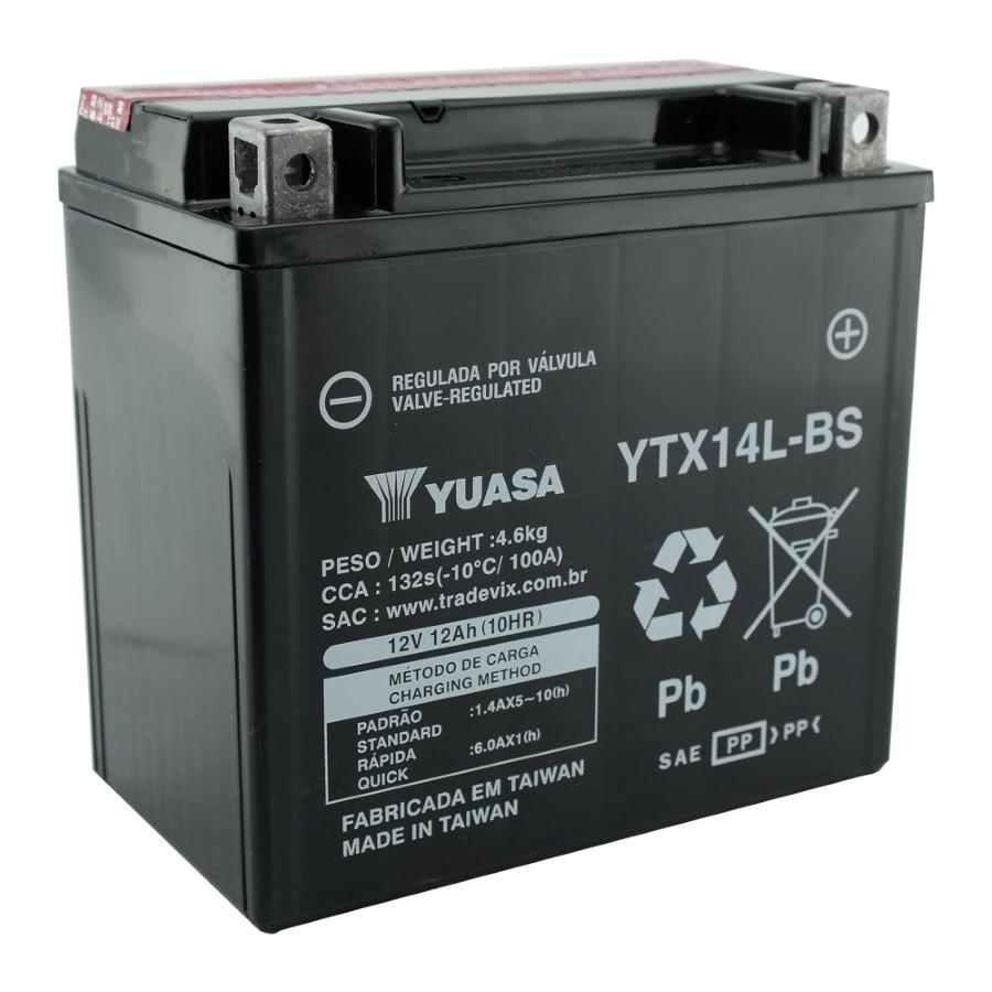 Bateria Yuasa YTX14L-BS Harley Davidson: XL /XLH Sportster 883 e 1200 (2004/2012)