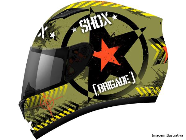 Capacete Shox Brigate Green Military