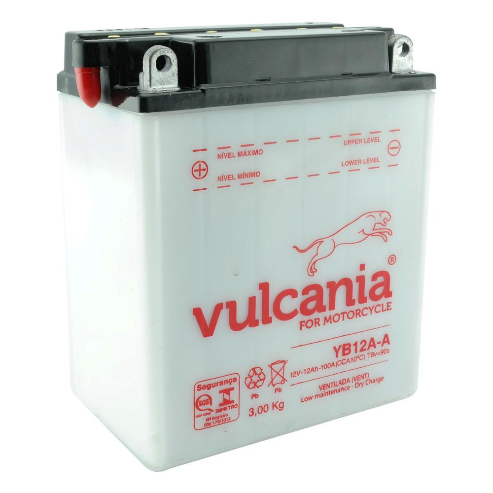 Bateria Vulcania YB12A-A CB 400 / 450 / CBR 450 SR