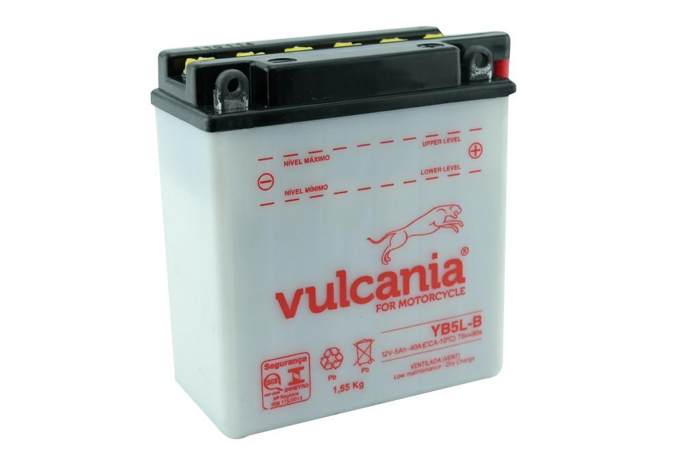 Bateria Vulcania YB5L-B CRYPTON / XTZ125 / DAFRA SUPER 100