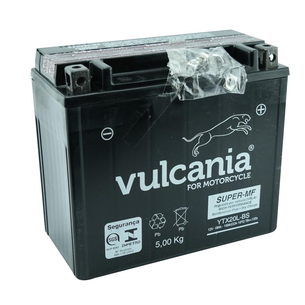 Bateria Vulcania YTX20L-BS XVZ1300 A / Harley Davidson 1200