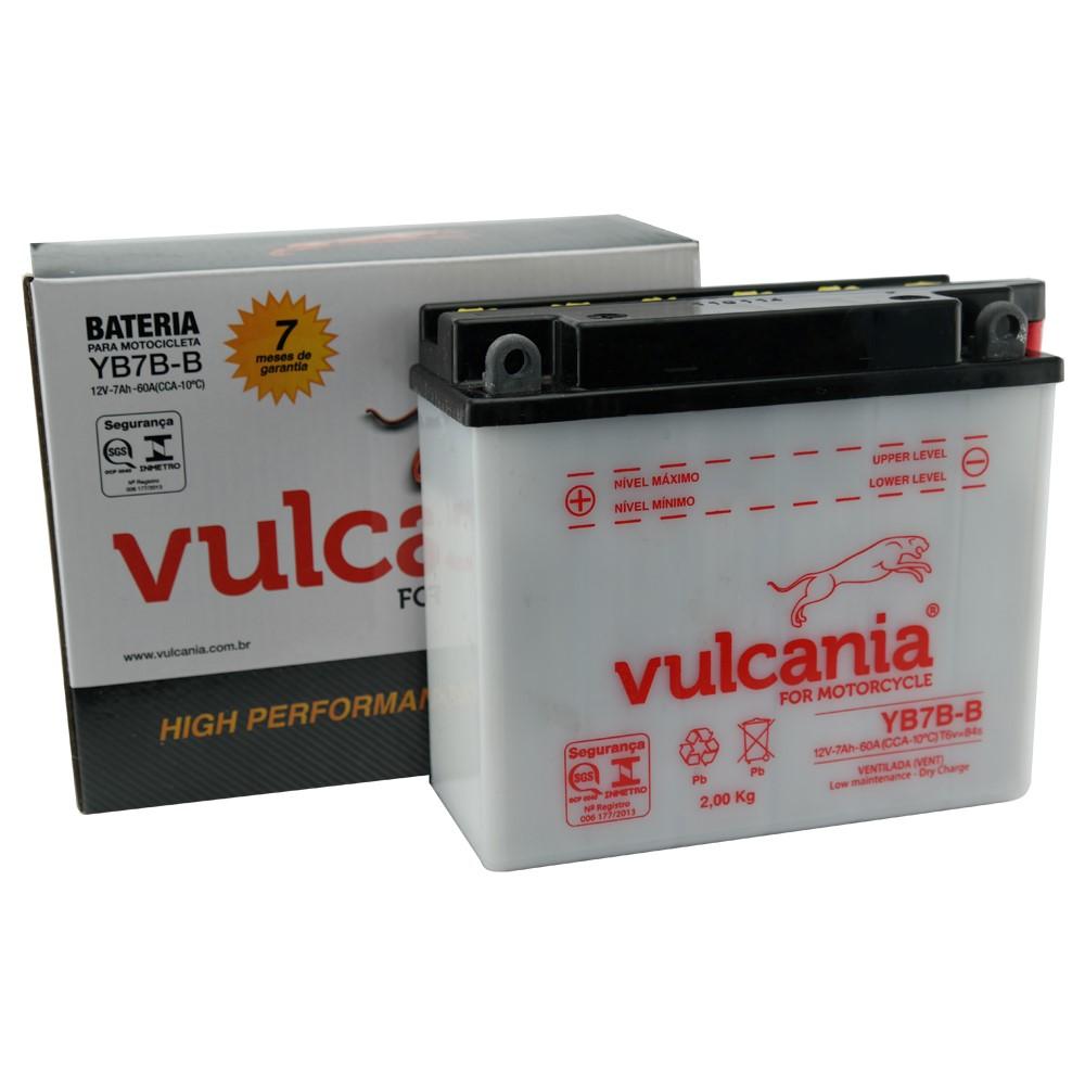 Bateria Vulcania YB7B-B CBX 200 / NX 150 / 200 / 350 Sahara / TDM / XT 225