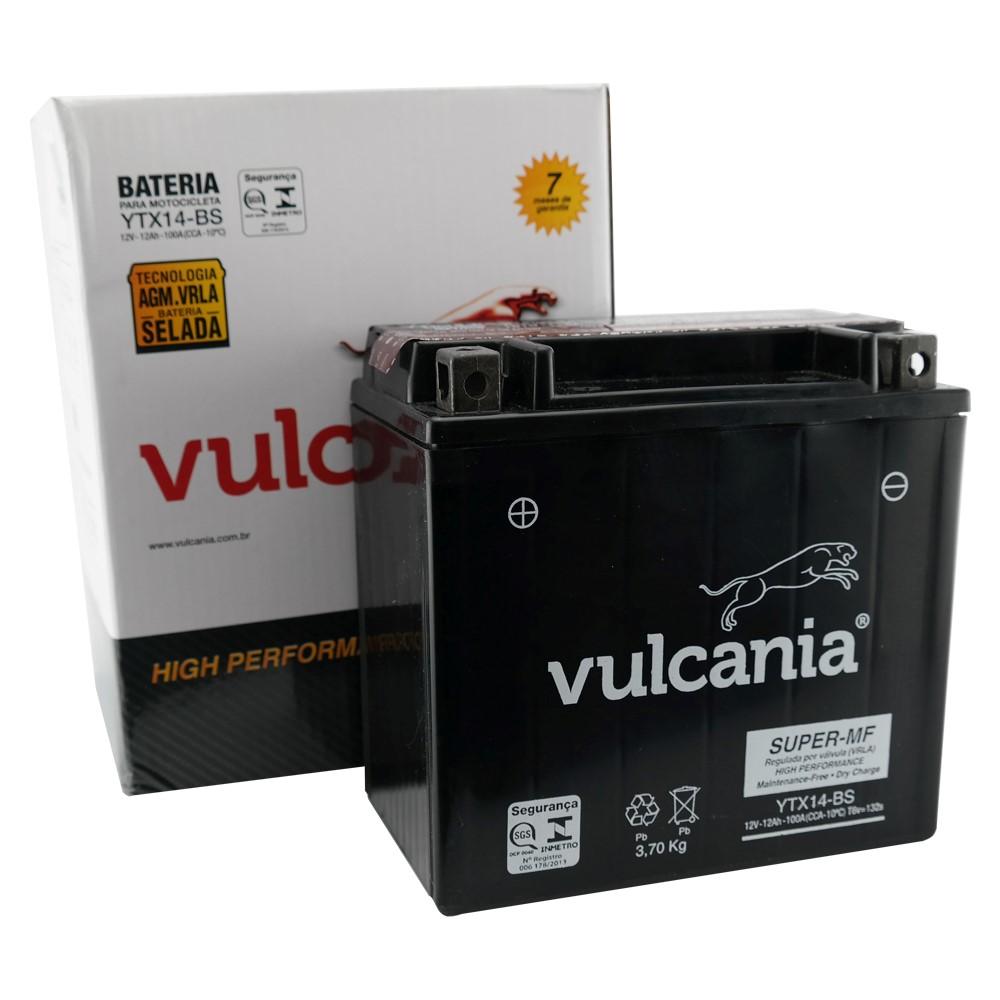 Bateria Vulcania YTX14-BS DR 650 / 800 / ZX / FZR 1000 / Shadow 750 98/02
