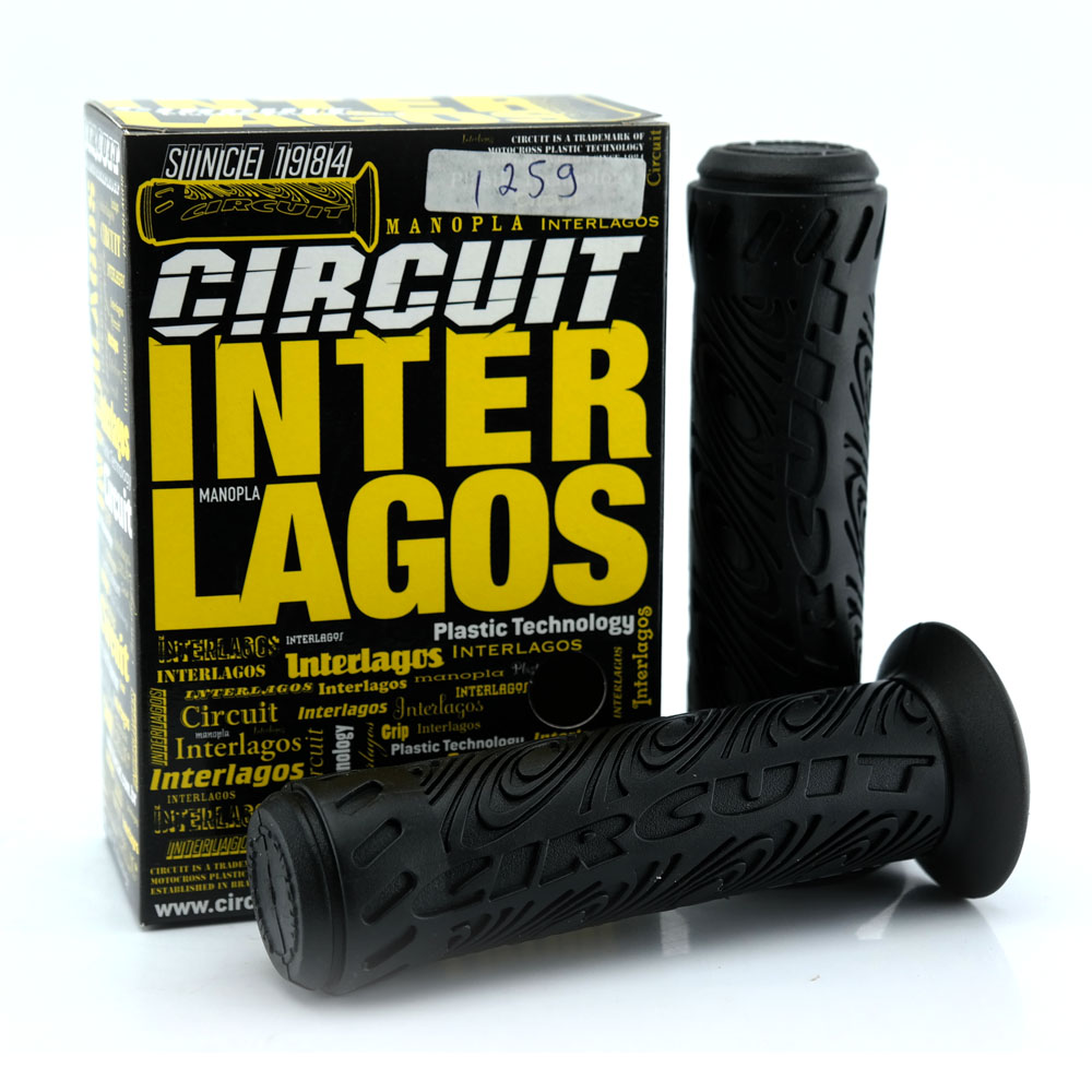 Manopla Moto Circuit Interlagos Plus (Par) - Preto