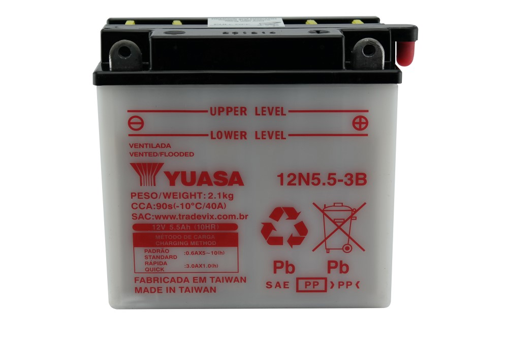 Bateria Yuasa 12N5.5-3B Agrale / RD / RDZ / YBR / RD350