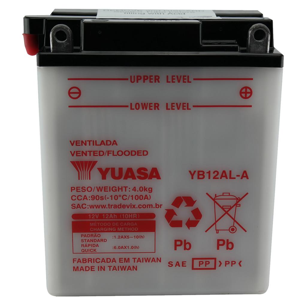 Bateria Yuasa YB12AL-A Tenere 600 / Vulcan 500 / Virago 535 ANO 87/99 / BMW G650 GS
