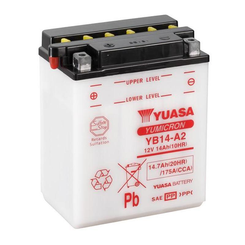 Bateria Yuasa YB14-A2 CBX 750 / CBF 1000 Importada
