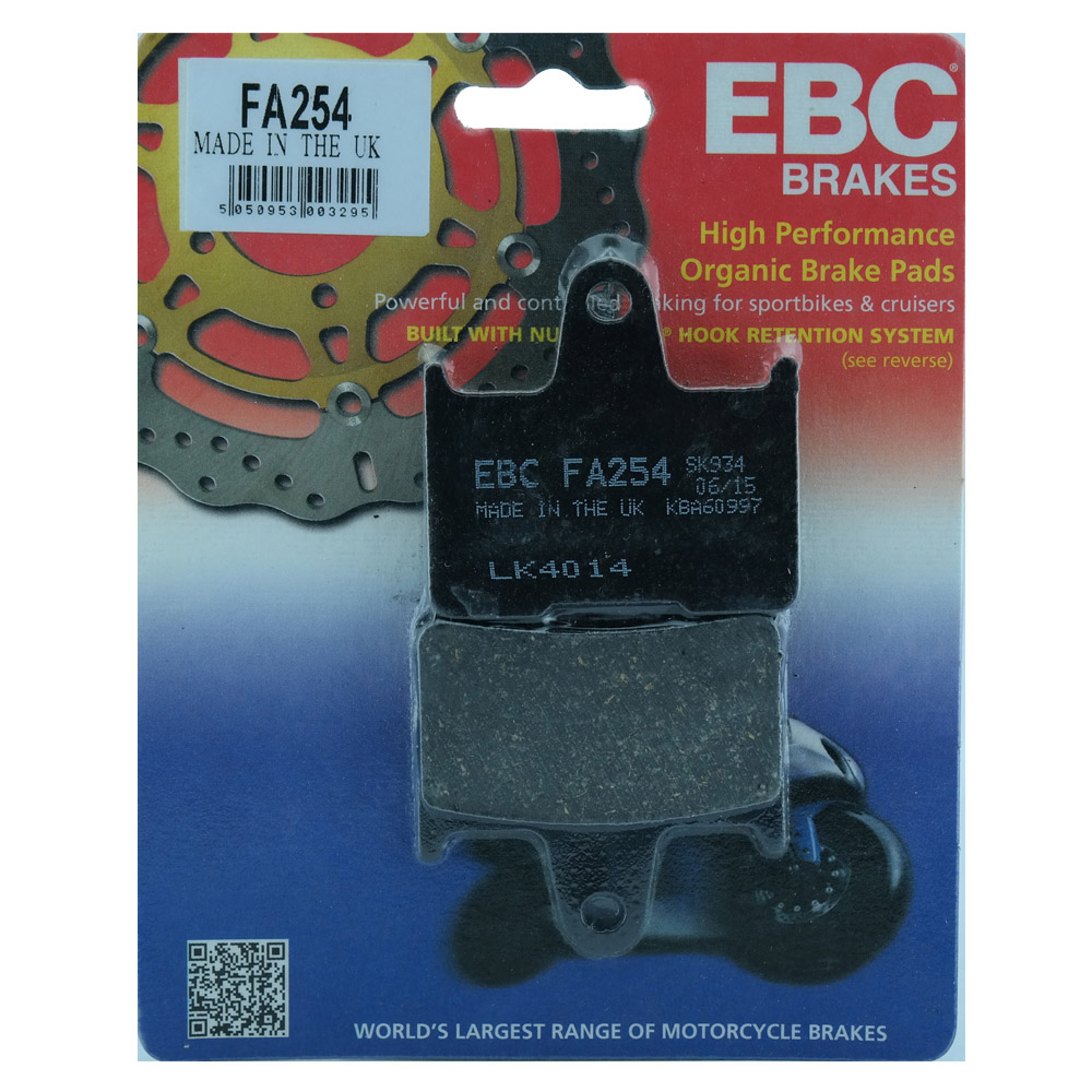 Pastilha de Freio Traseira FA254 para Harley Davidson XL 883 - EBC Brakes