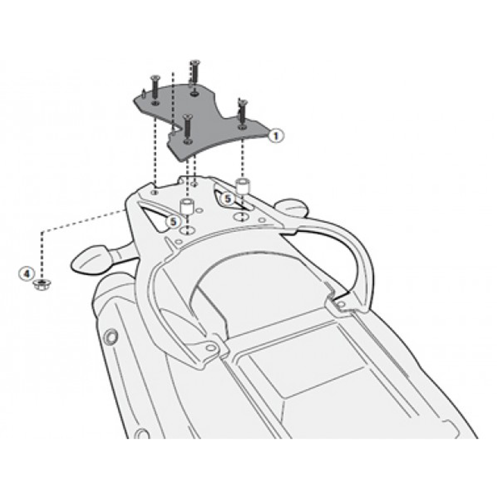 Base Rack específico Monolock SR3101M DL650 V-Strom L2 2011 á 2015 - Givi