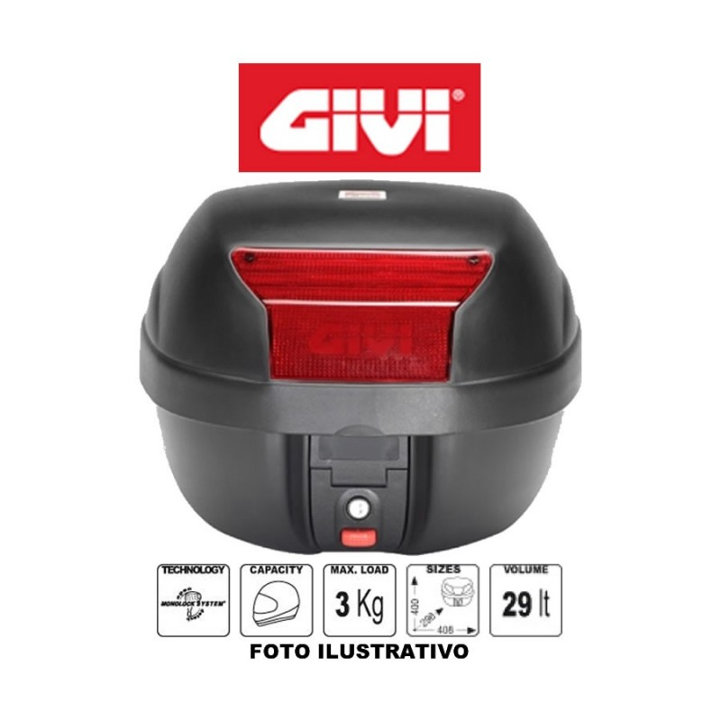 Baú Bauleto Monolock E29N Compact 29 Litros - Givi