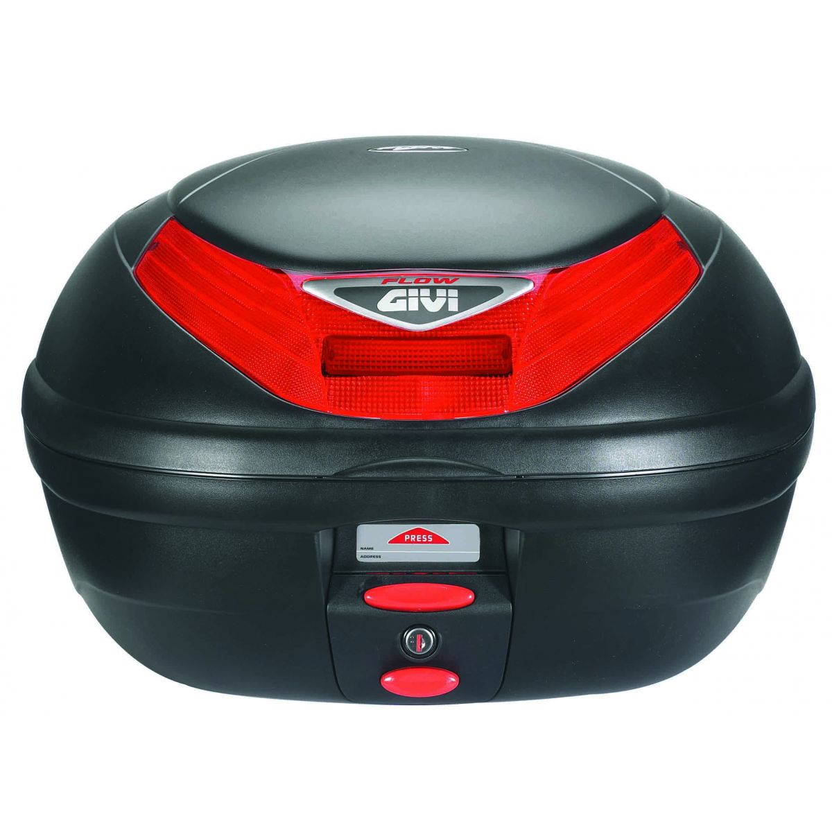 Baú Bauleto para Moto Monolock E-350N Flow Preto 35 Litros - Givi