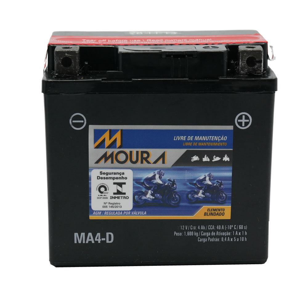 Bateria Moura MA4-DI / YTX5L-BS Titan / Bros 150 | XRE 300 | Pop | Biz