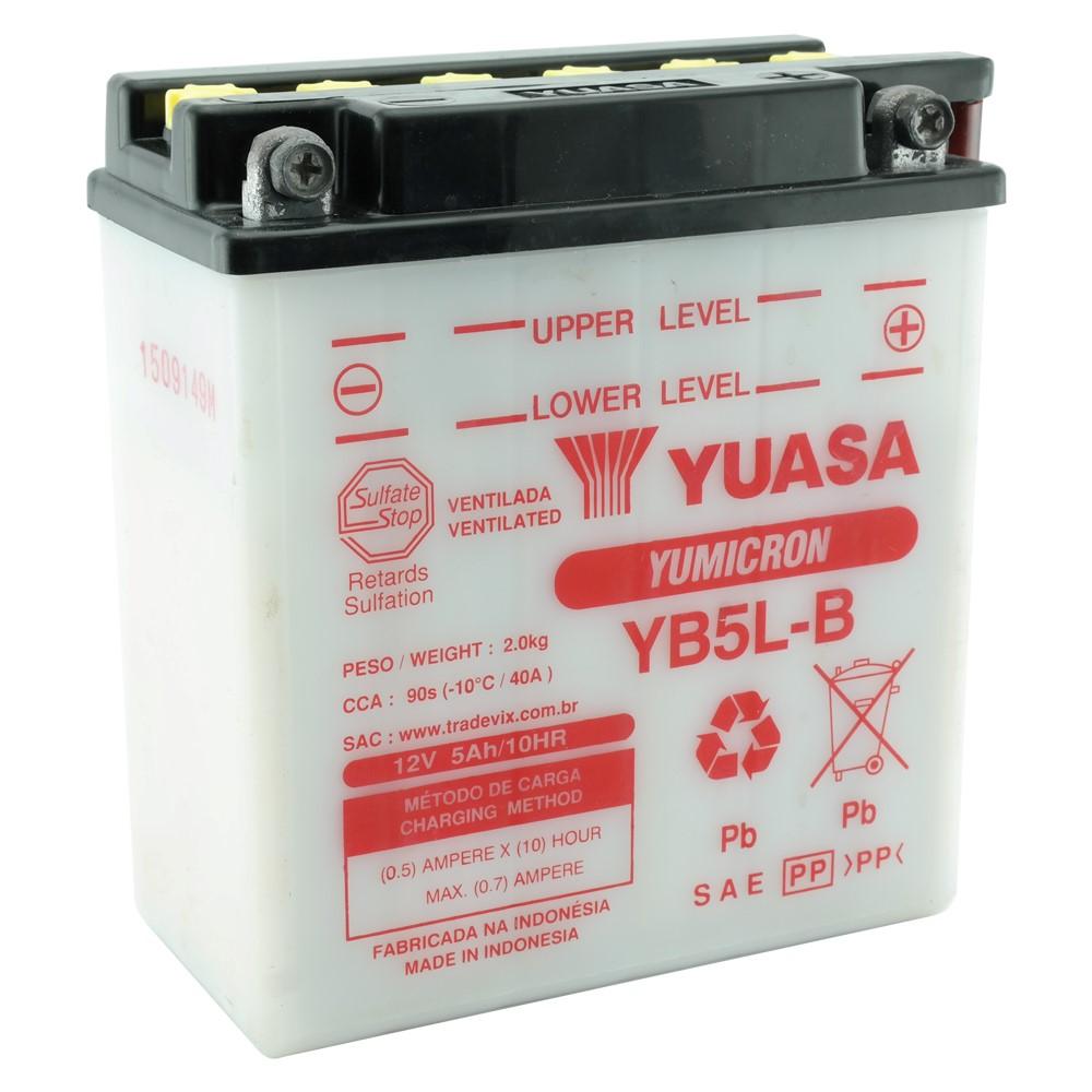 Bateria Yuasa YB5L-B CRYPTON / XTZ125 / DAFRA SUPER 100