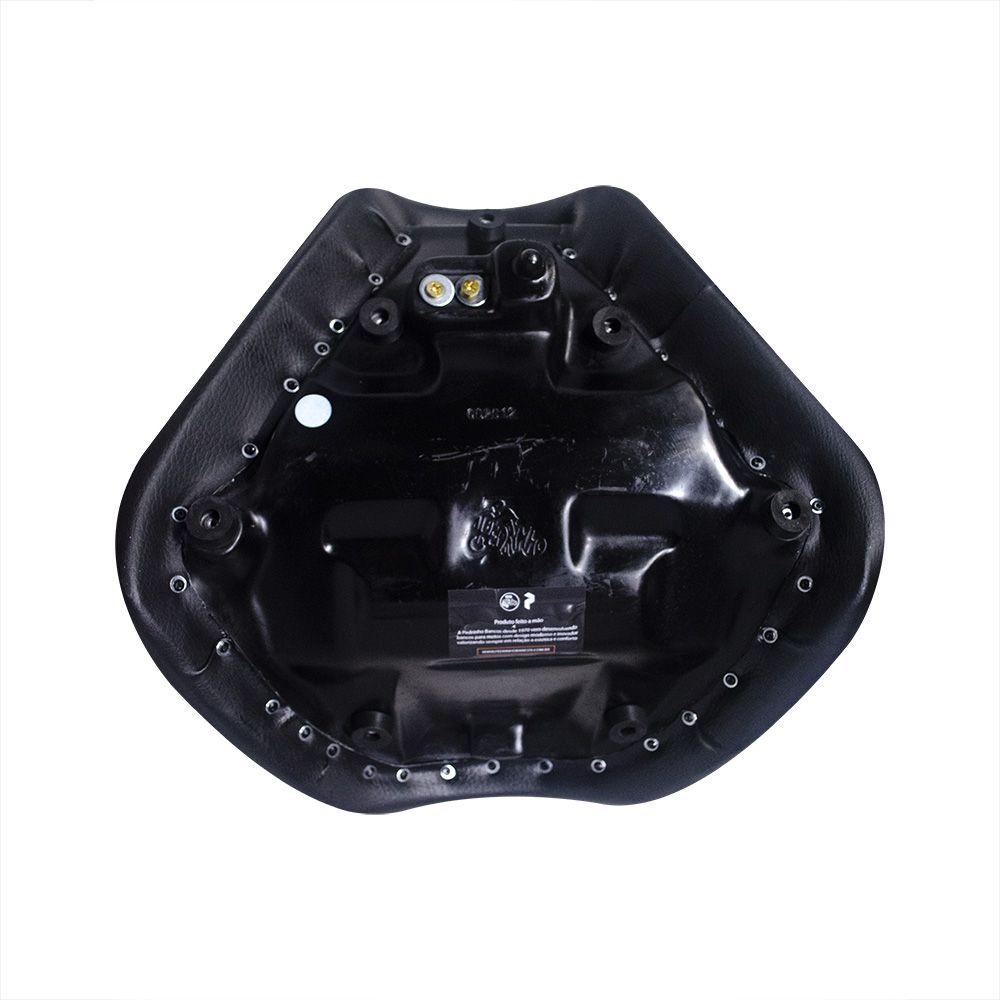 Banco Confort Bi Partido Liso para Yamaha Midnight Star 950 - Pedrinho Bancos