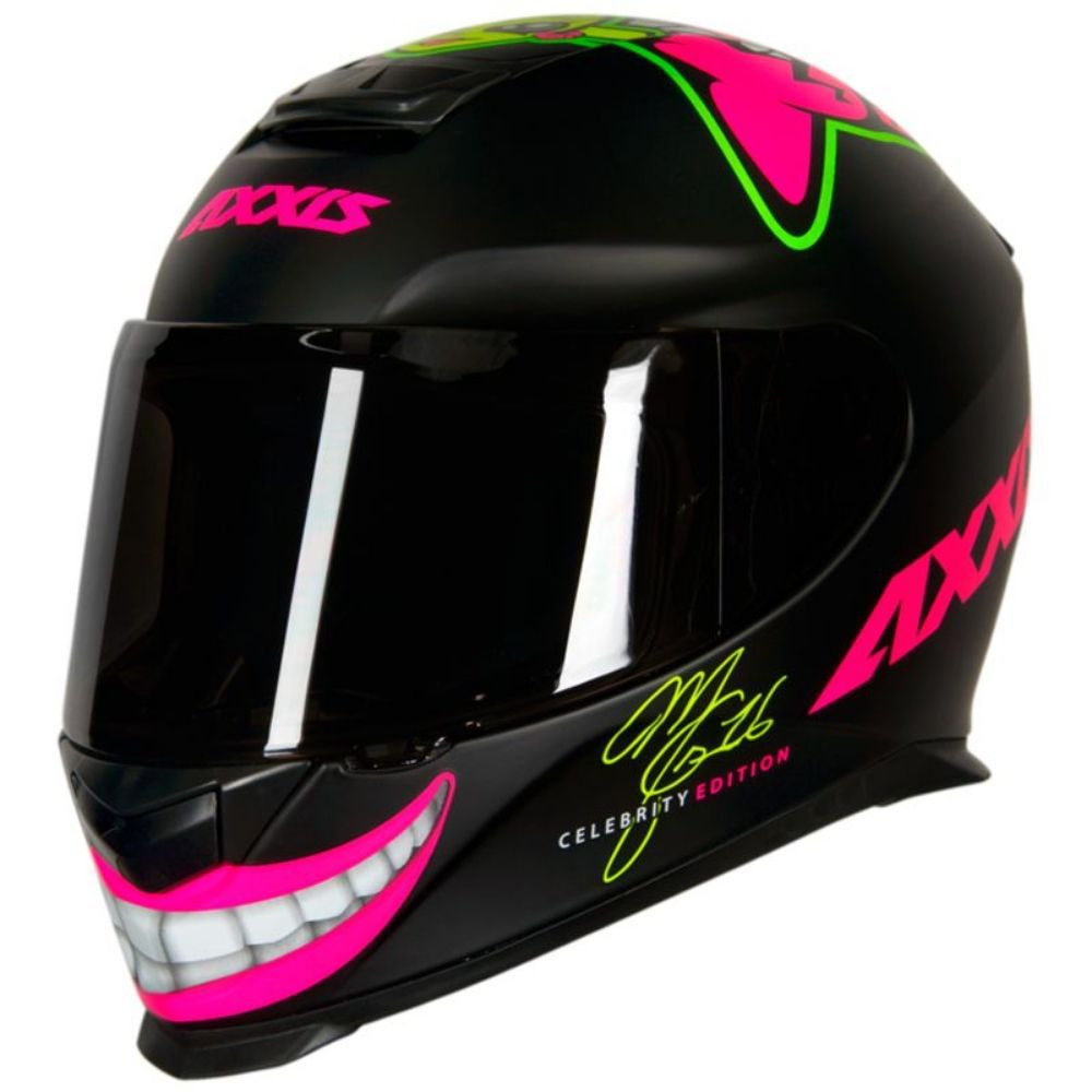 Capacete Axxis Celebrity Edition by Marianny Preto Rosa Fosco
