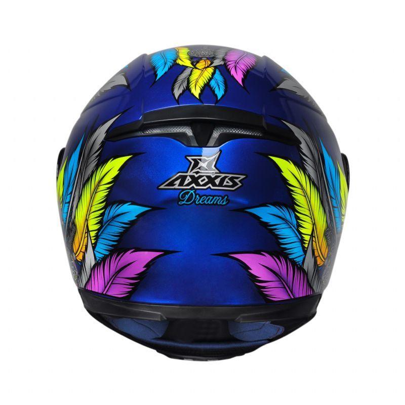 Capacete Axxis Eagle Dreams Penas Filtro dos Sonhos Azul Brilhante