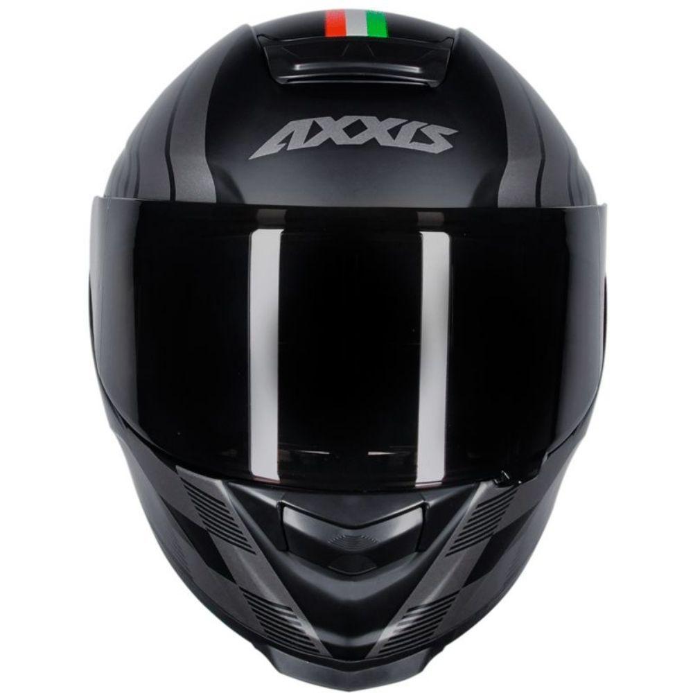 Capacete Axxis Eagle Italy Preto Fosco Italia