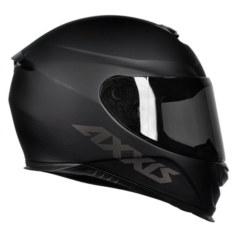 Capacete Axxis Eagle Monocolor Solid Preto Fosco