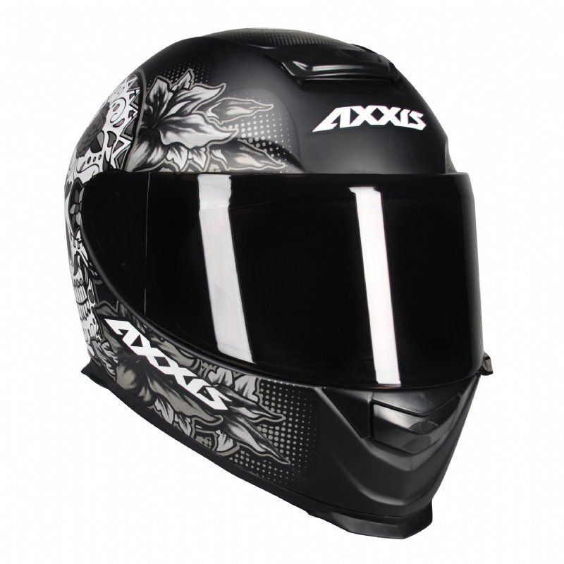 Capacete Axxis Eagle Skull Preto Fosco Caveira