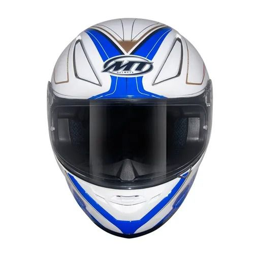 Capacete MT Revenge Limited Evo Branco Azul Bi Composto