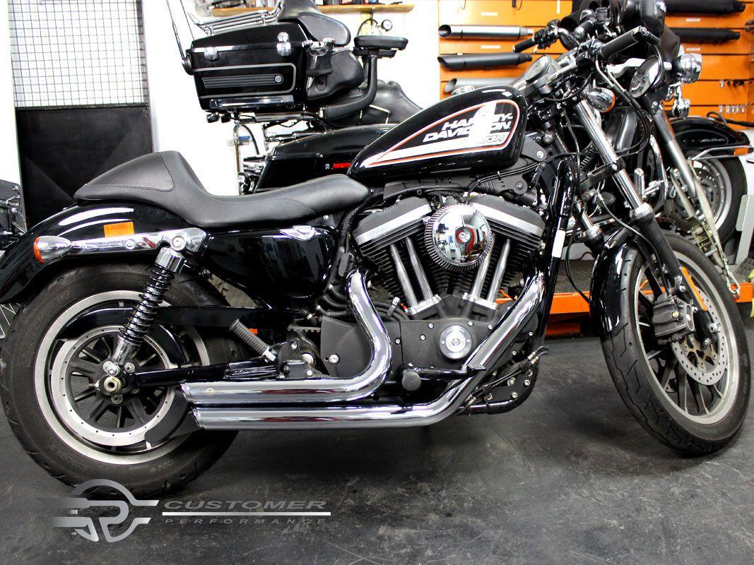 "Escapamento K10 Harley Davidson Sportster Iron 883 2"".1/4 Reto Corte em Angulo - Customer"
