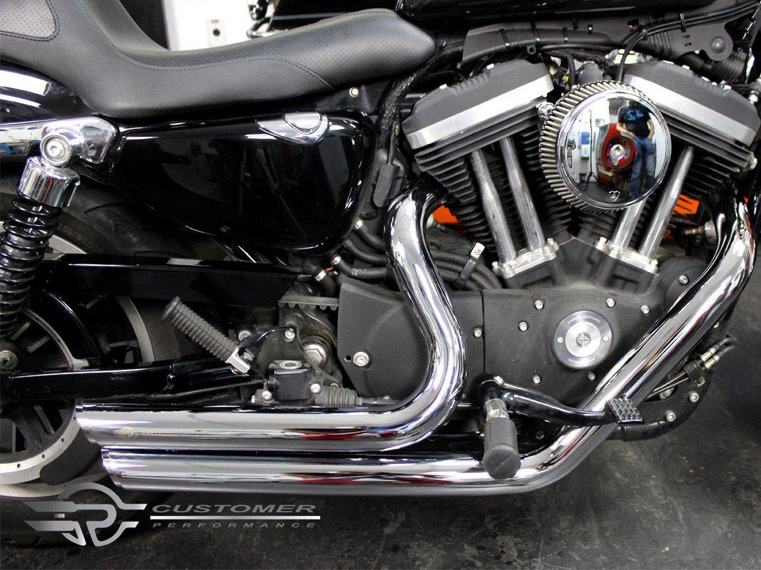 Escapamento K10 Harley Davidson Sportster Iron 883 até 2013 2