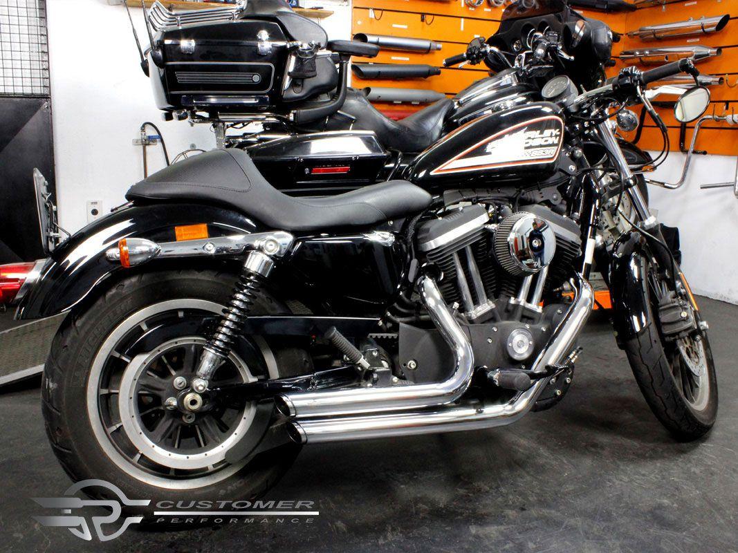 """Escapamento K10 Harley Davidson Sportster Iron 883 até 2013 2"""".1/4 Reto Corte em Angulo - Customer"""
