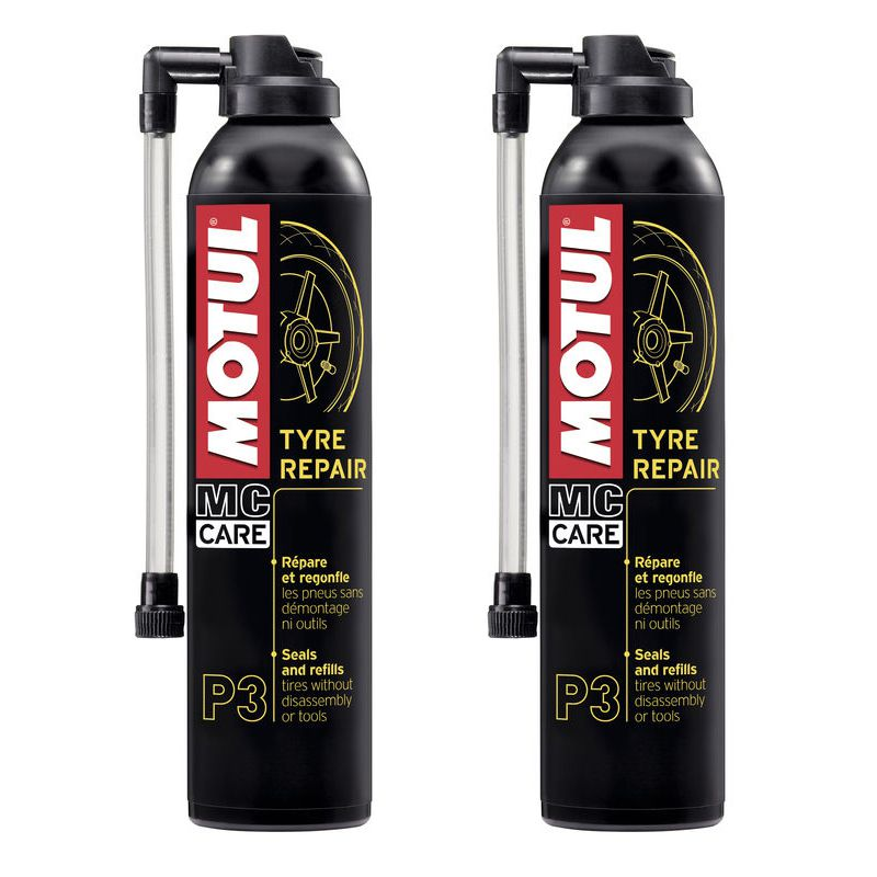 Kit 2 Reparador de Pneu Motul P3 Tyre Repair 300ML