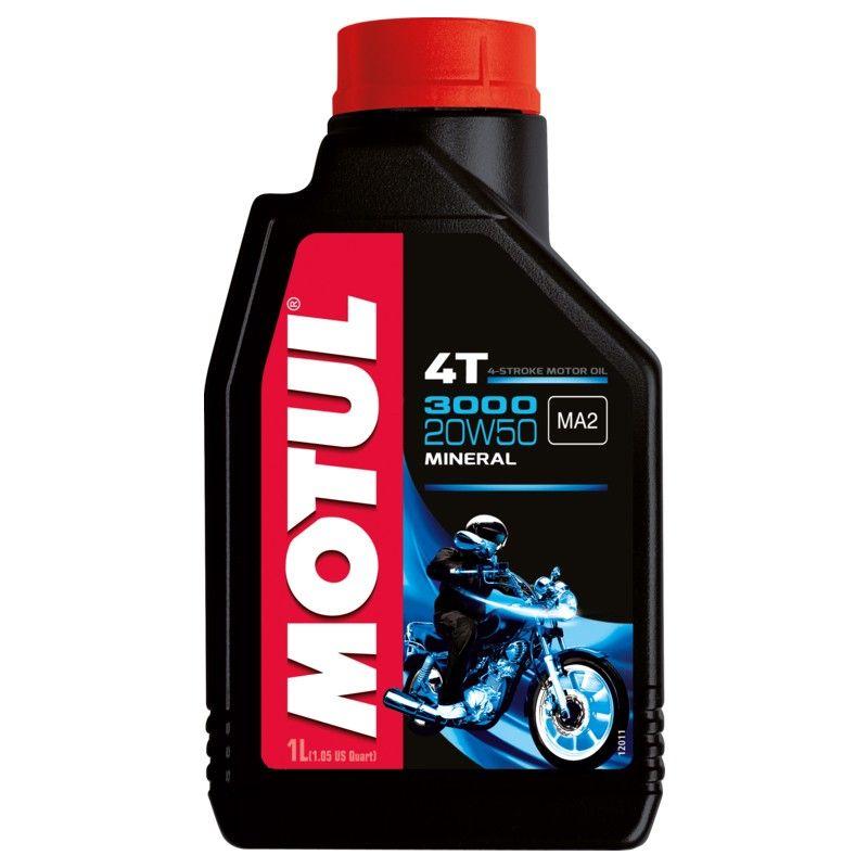 Kit C/7 Litros Motul 3000 20w50 Óleo Moto Mineral