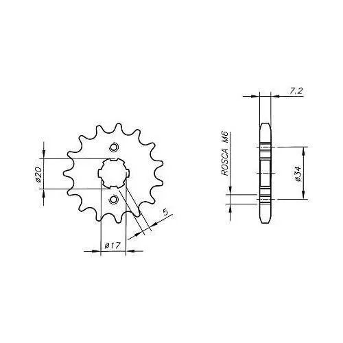 Kit Relação Transmissão Honda 150 Titan Cargo Fan Mix H03673X - Vaz