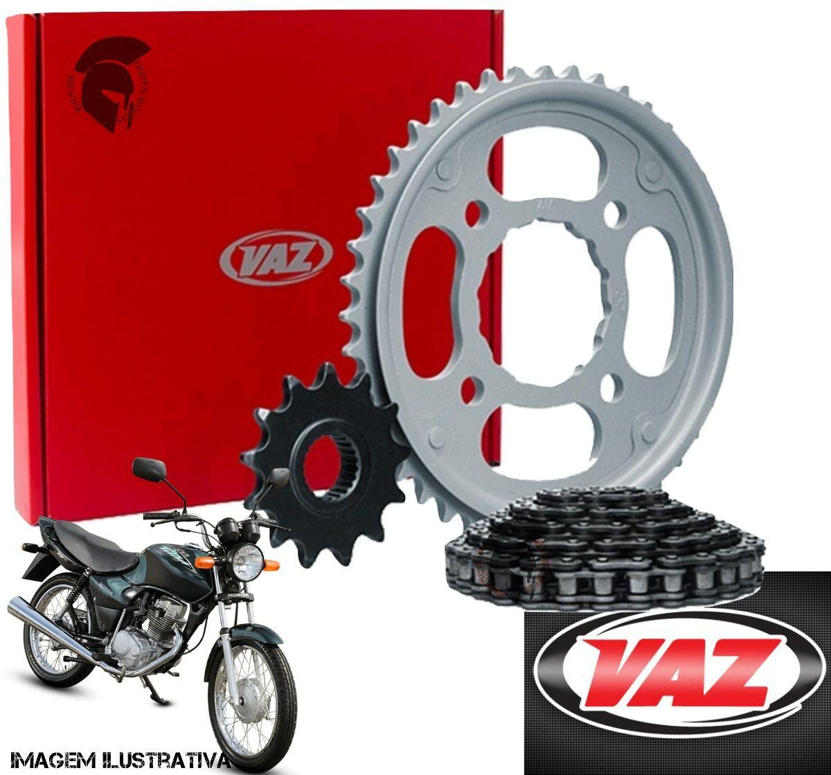 Kit Relação Transmissao Vaz Xtreme Honda  Cg 125 Fan 09 até 13