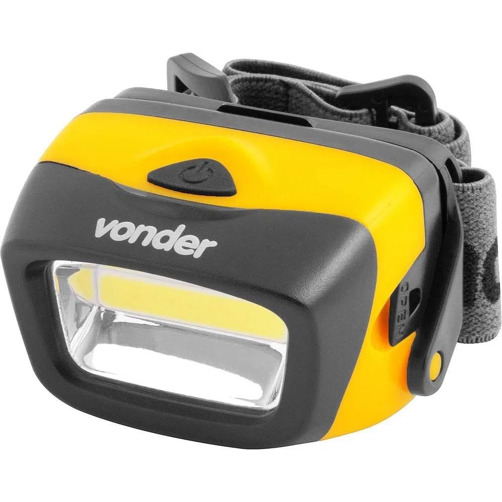 Lanterna para Cabeça em LED LCV 120 Iluminação Camping Pesca Ciclista - Vonder