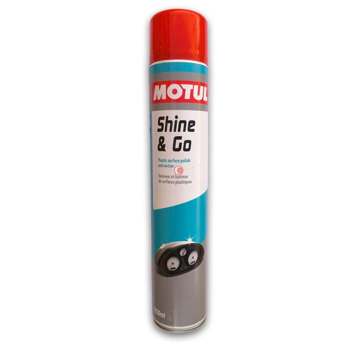Motul Shine & Go Spray Brilho Regenerador Plastico 750ml