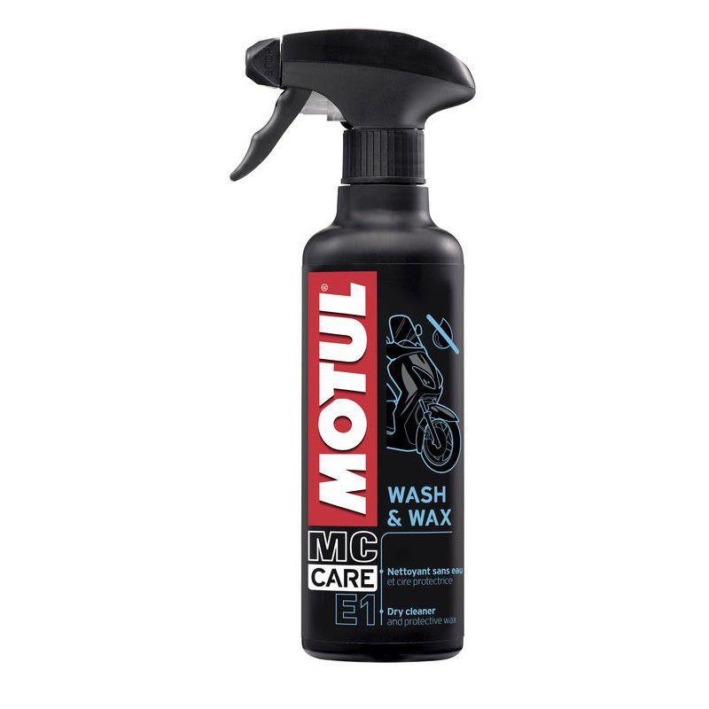 Motul Wash & Wax E1 Mc Care Limpeza Lavagem A Seco Para Motos 400ml