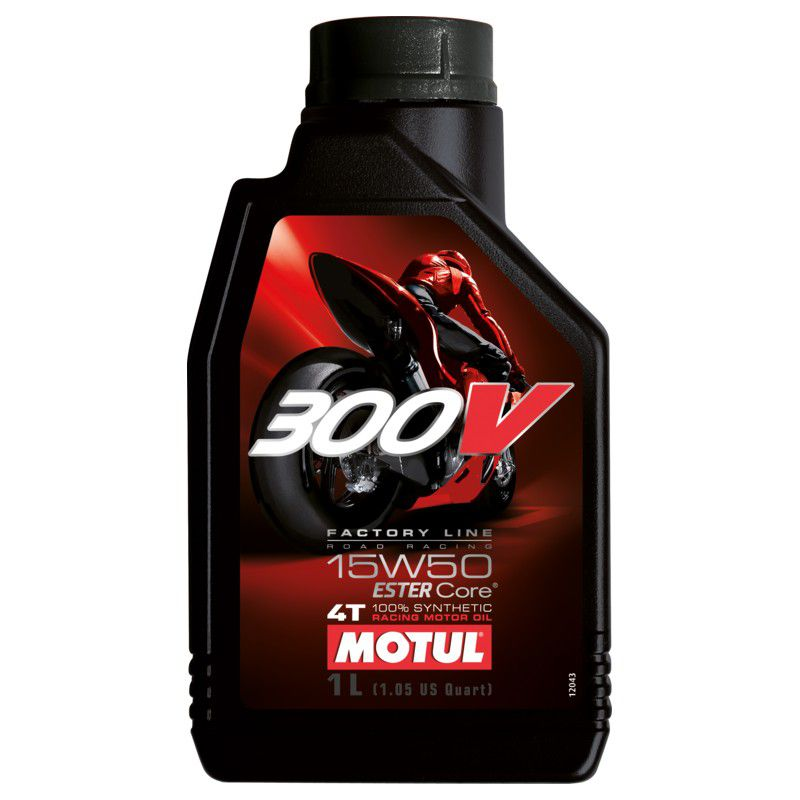 Óleo Motul 300V 15w50 4T Fact line 100% Sintético 1 Litro