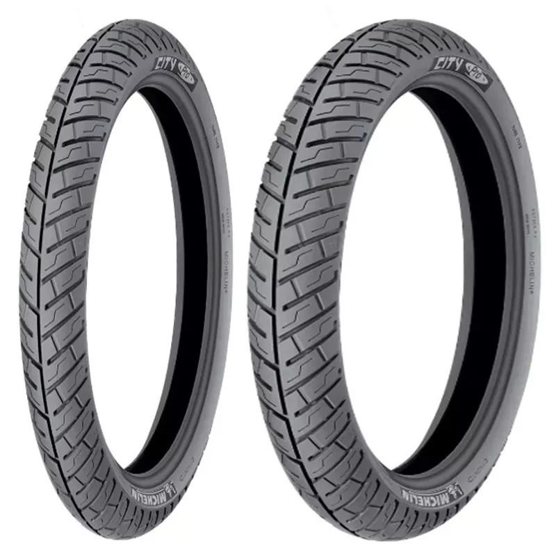 Par Pneu 2.75-18 + 90/90-18 Michelin City Pro Factor Titan 150 YBR