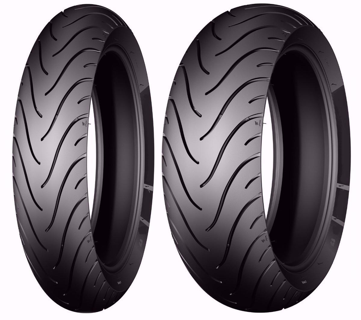 Par Pneu Michelin 120/70-17 + 180/55-17 Pilot Street Radial XJ6 / Hornet / Bandit / CBR 1000 RR / YZF R1 / YZF R6