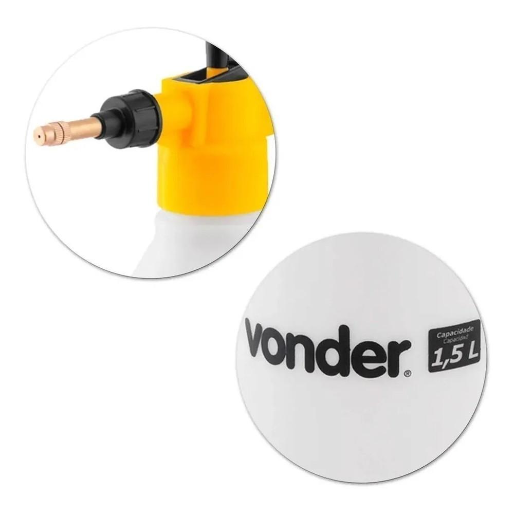 Pulverizador Borrifador com Pressão Prévia 1,5l Limpeza Automotiva - Vonder