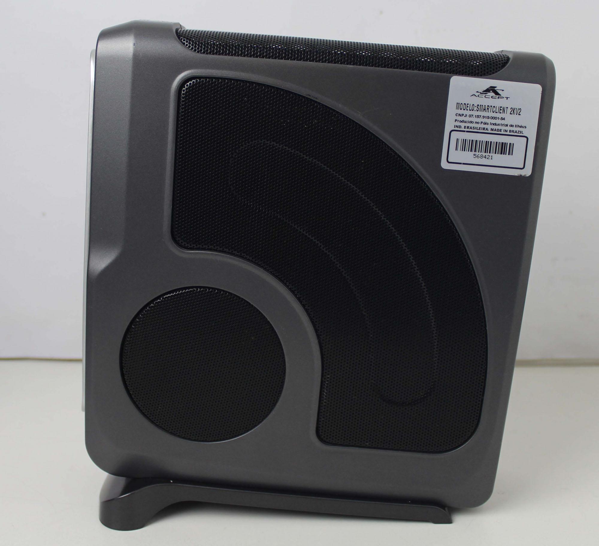 35 UNIDADES - MINI PC P/PDV ACCEPT SMART CLIENT 2KV2 DUAL CORE 2.41GHZ 8GB SSD-32GB (SERIAL DB9)