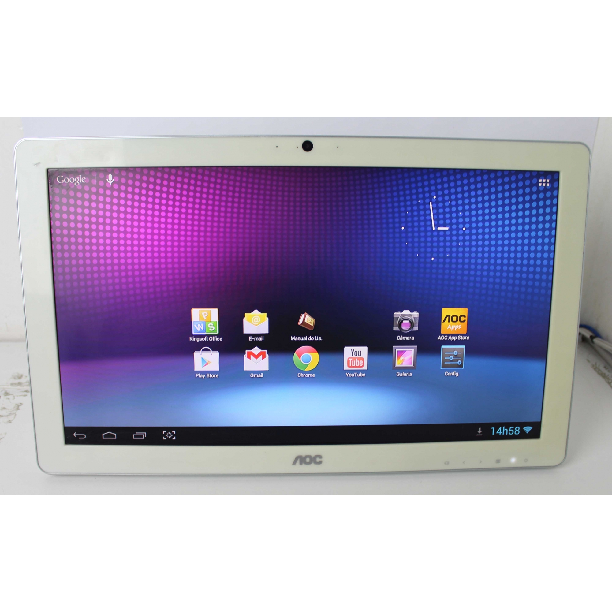"""All in One Android AOC EVO A2072PWH 19.5"""" Dual Core 1.37GHz 1GB HD-8GB (Não Enviamos)"""