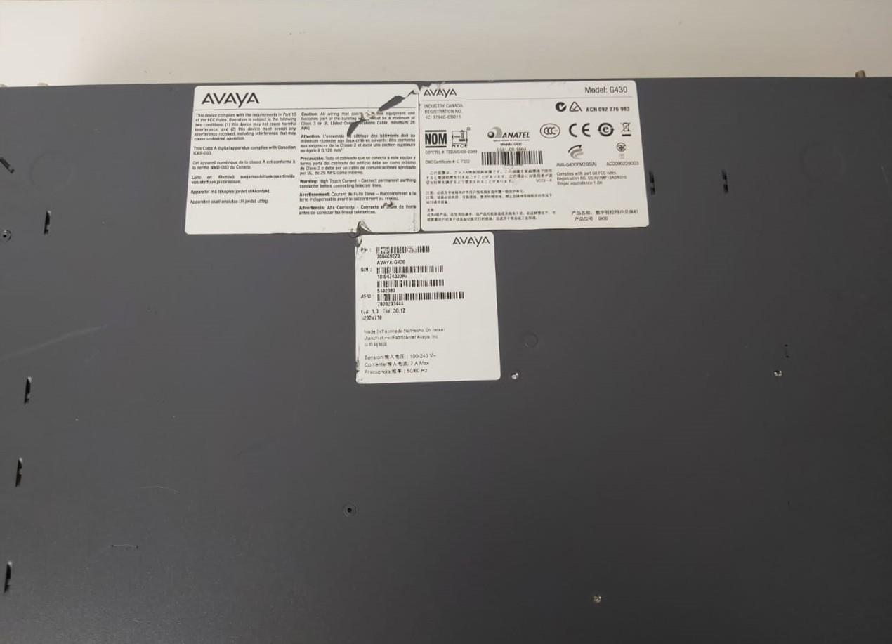 Avaya G430 Media Gateway S8300 - Não enviamos