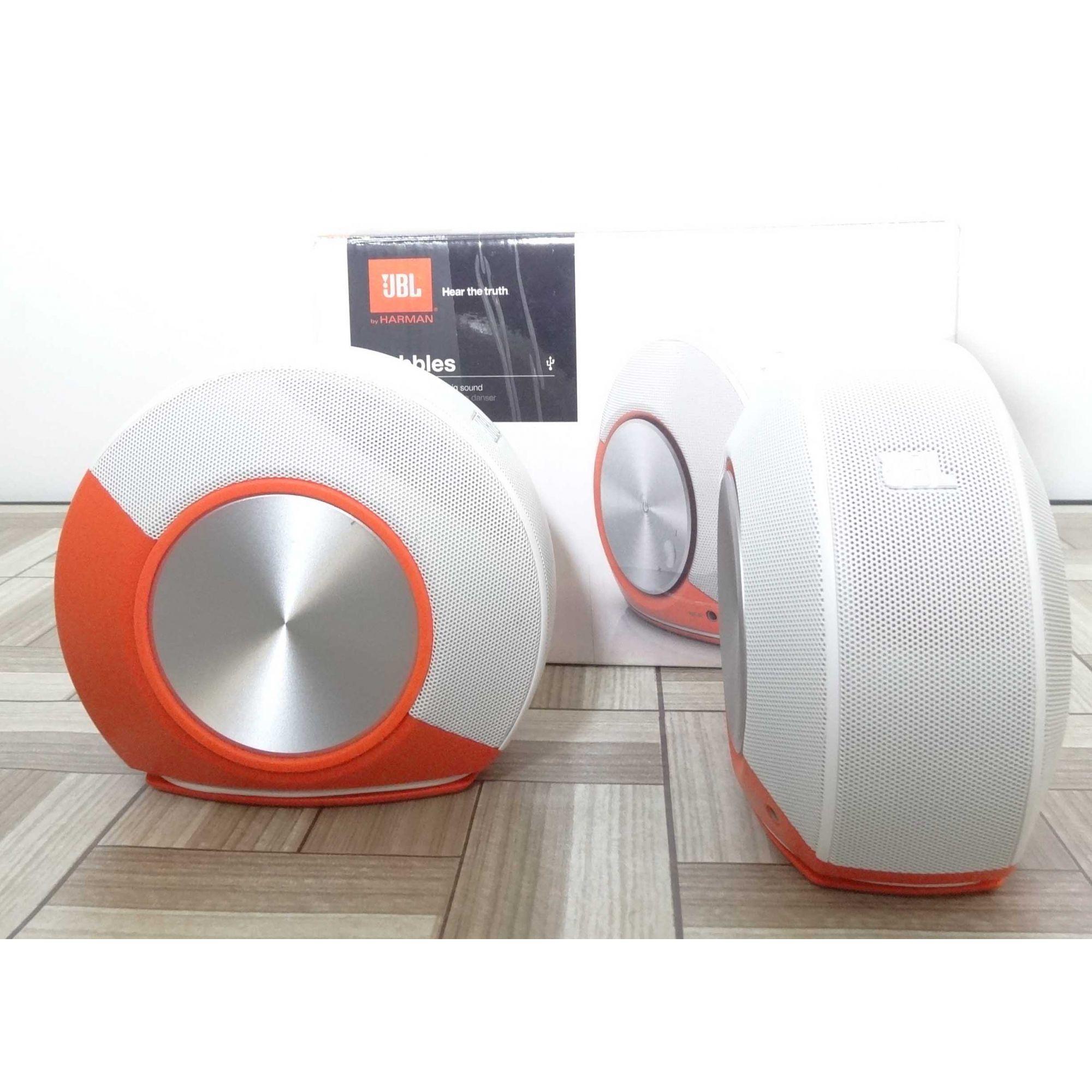 Caixa de Som JBL Pebbles Plug And Play - Orange