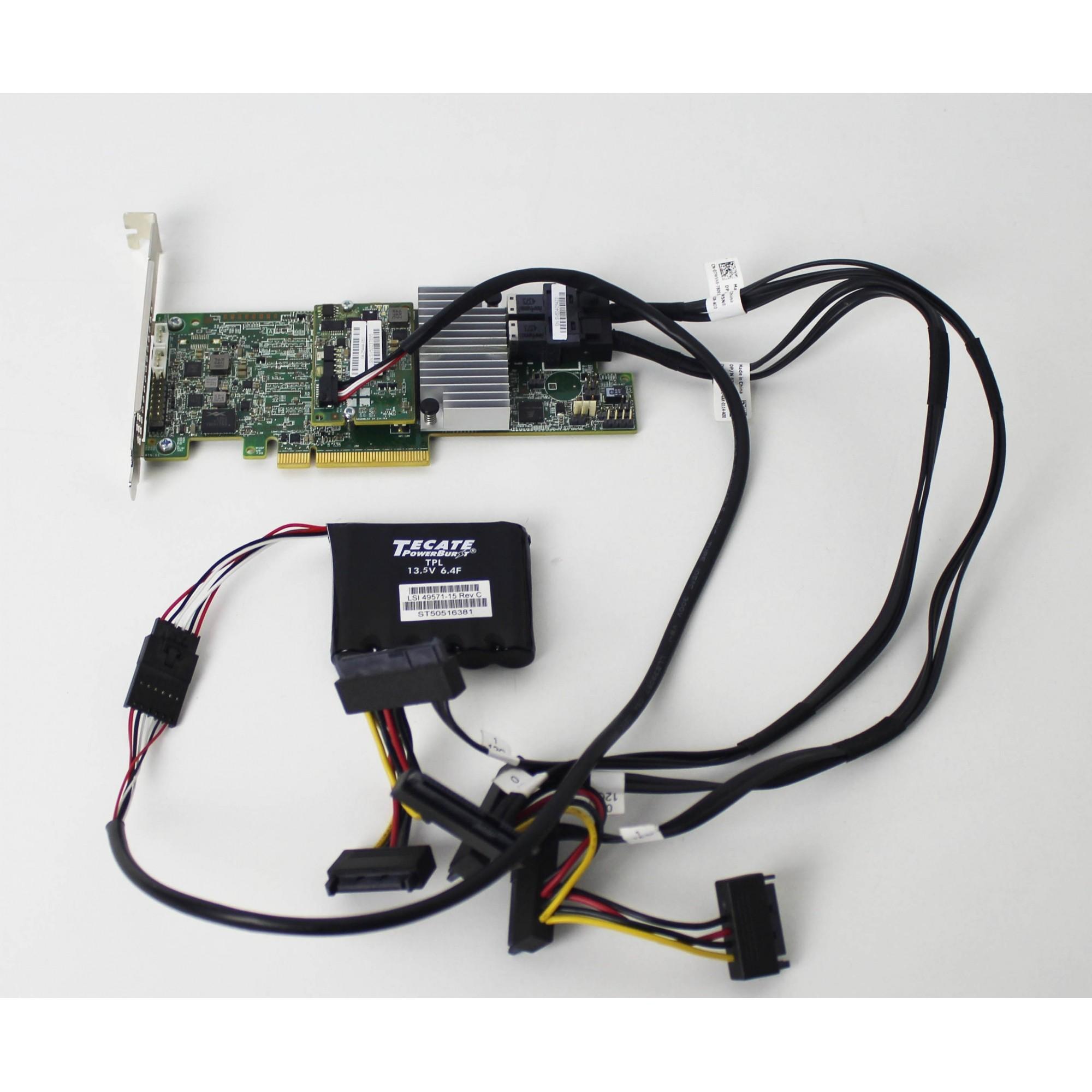 Controladora Dell 0mm445 Megaraid Lsi 9361-8i Sas C/ Backup