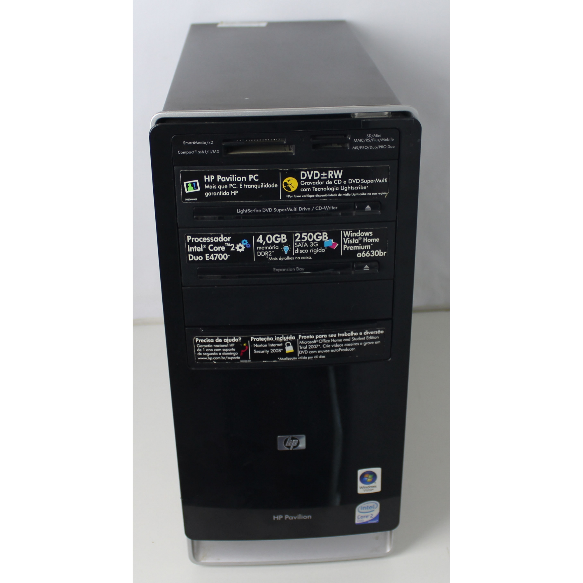 CPU HP Pavilion a6630br Intel Core 2 Duo 2.6GHz 4GB HD-250GB