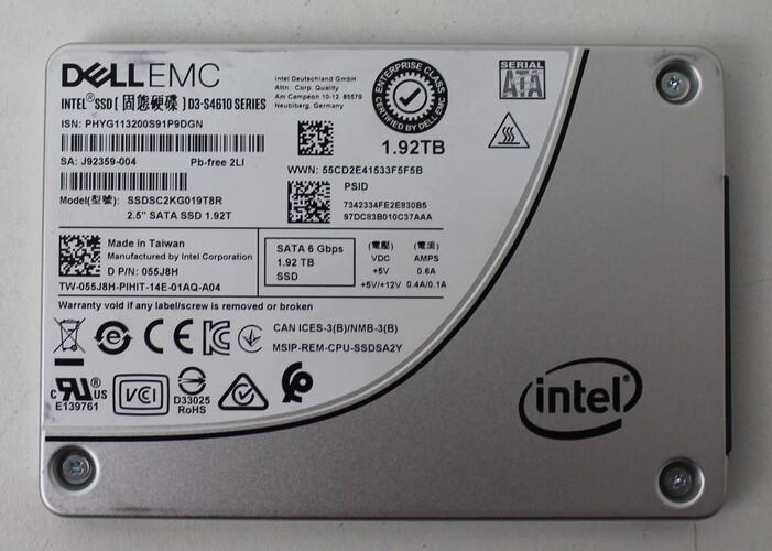 HD SSD DELL 1.92TB PARA SERVIDORES - D3-S4610 SERIES - SSDSC2KG019T8R
