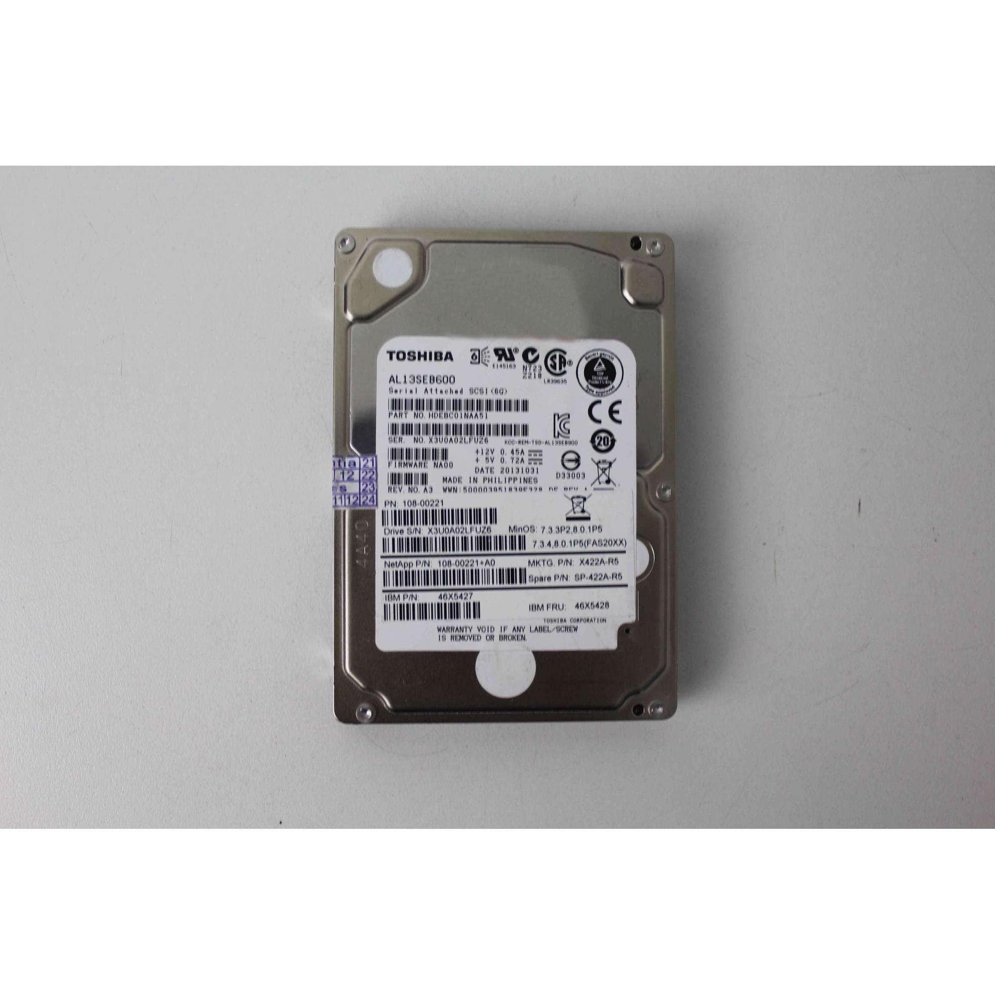 HD Toshiba 600GB SAS 6 GBPS HD PARA SERVIDORES 10K RPM