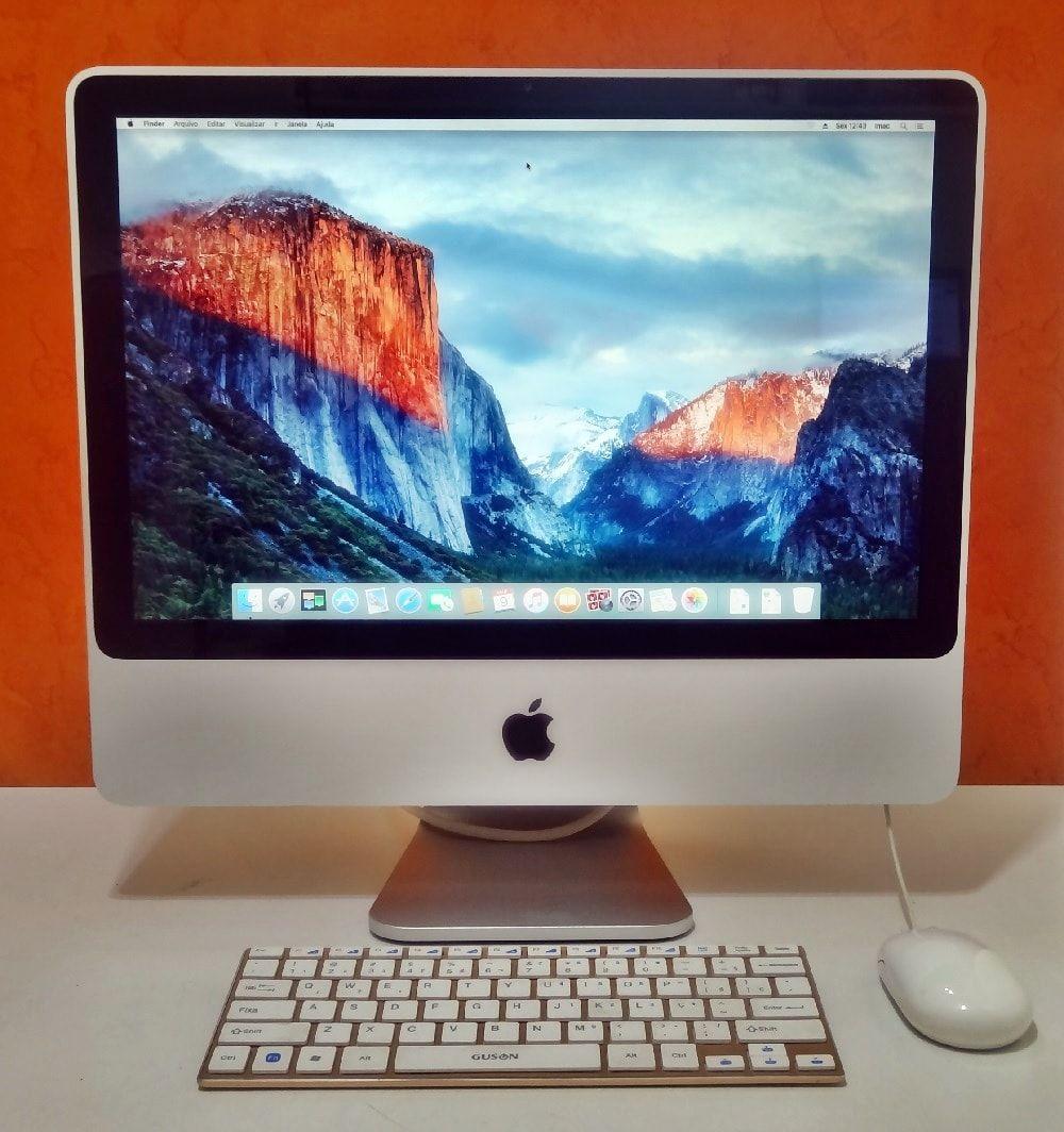 iMac MB323LL/A 20'' Intel Core 2 DUO 2.40GHz 4GB HD-250GB | DEDICADA - 128MB (NÃO ENVIAMOS)